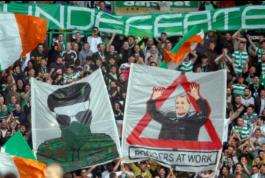 Тренер «Селтика» поссорился с фанатами после баннера об ирландских сепаратистах