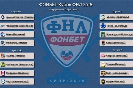 Котировки букмекеров на стартовые матчи Кубка ФНЛ