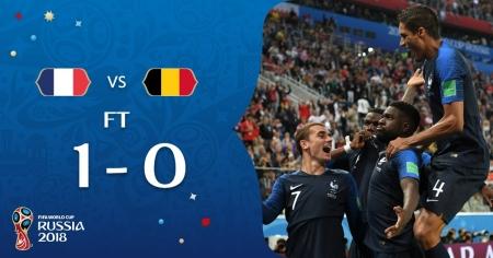 Сборная Франции вышла в финал чемпионата мира