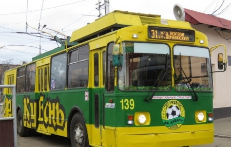 Желто-зеленый троллейбус вернулся на улицы Краснодара