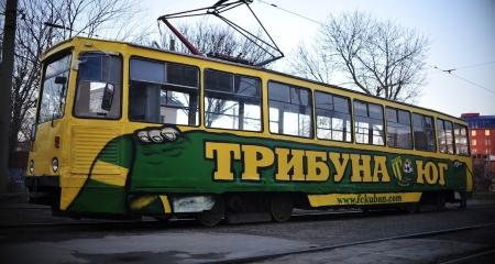 Второй «желто-зеленый» трамвай за сутки