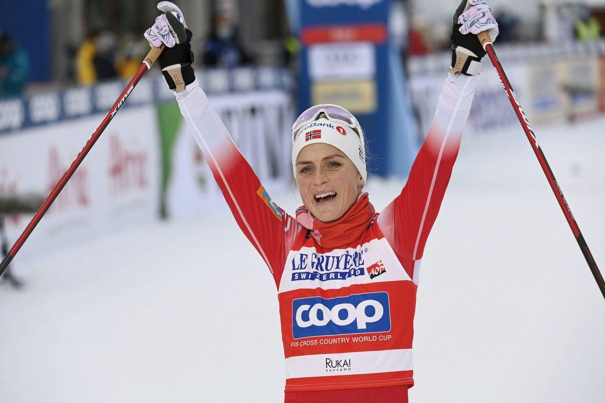 Тереза Йохауг выиграет 10-километровую гонку на чемпионате мира