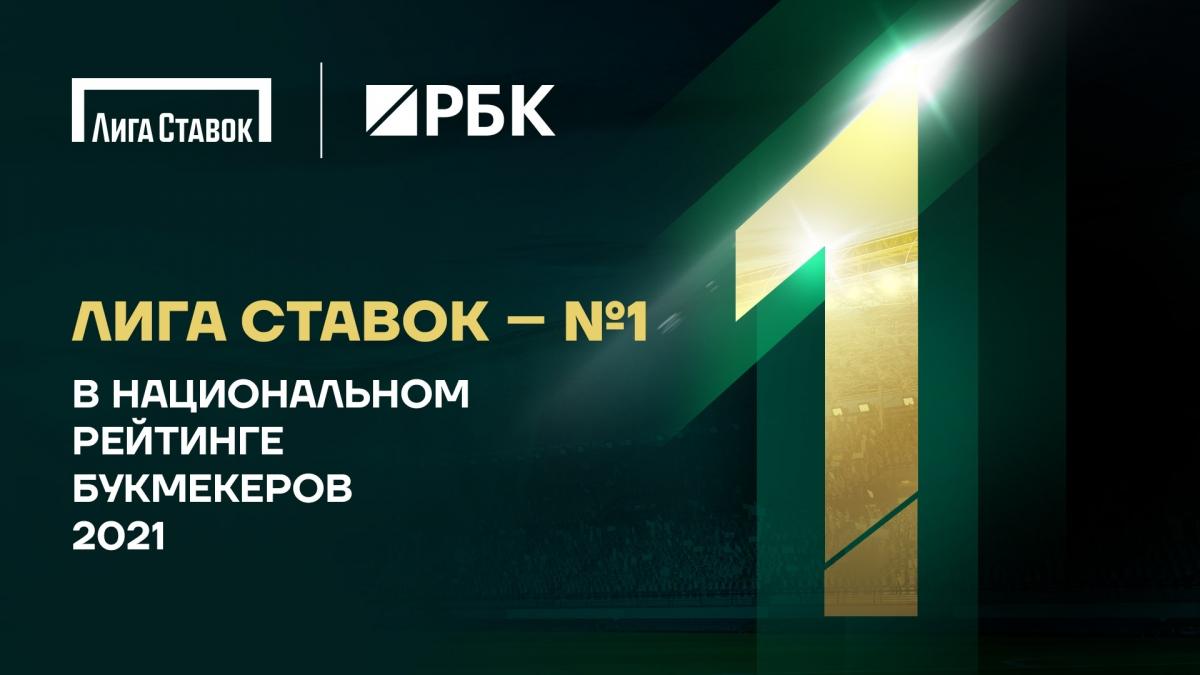 «Лига Ставок» возглавила Национальный рейтинг букмекеров