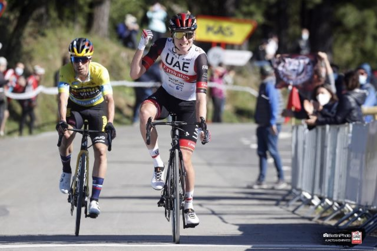 Тадей Погачар – победитель 3 этапа Тура Страны Басков (ВИДЕО)