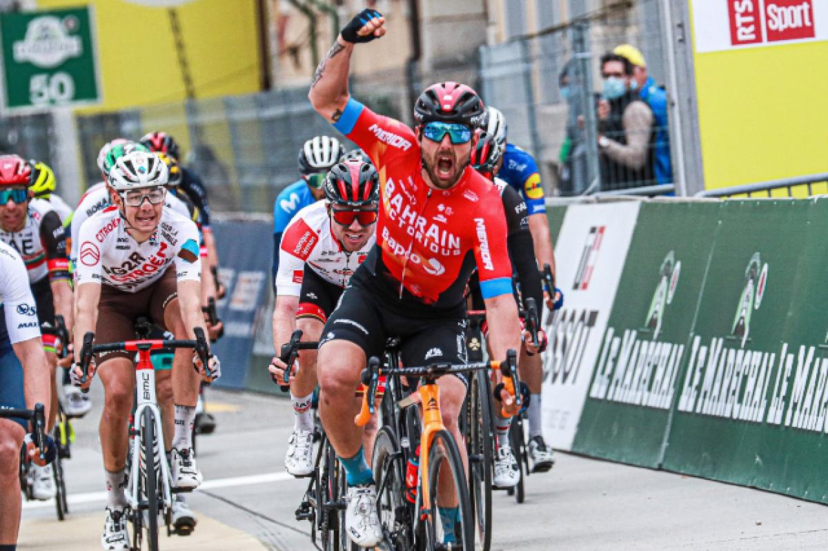 Сонни Кольбрелли – победитель 2 этапа Тура Романдии-2021